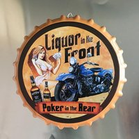 Wholesale signs sexy girls for sale - Group buy 80 Option cm Bottle Cap Metal Tin Signs New Beer Cafe Bar Decoration Plates Route Sexy Girls Retro Wall Art Plaque Vintage New Decor