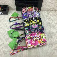 bolsos con cremallera bolsos al por mayor-Diseñador de la mujer Monederos VB Zip Estampado floral Carteras con cordón Titular de la tarjeta Ranura Retro Mini Bolsos Protabel Bolsos Totes Nuevo C72707