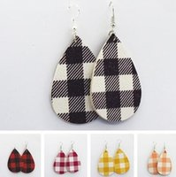 2019 New Fashion Leather Earrings for Women Trendy Style Leopard Print Jewelry Genuine Leather Earrings Wholesale