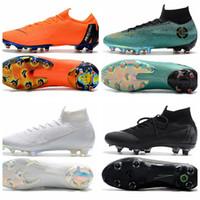 мужчины обувь футбол ronaldo оптовых-2019 детские футбольные бутсы mercurial superfly VI 360 Elite FG High Mens soccer cleats Youth Ronaldo CR7 футбольные бутсы бутсы мужская футбольная обувь