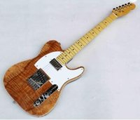Wholesale hollow guitars for sale - Group buy china made custom brand high quality koa wood electric guitar electric guitars