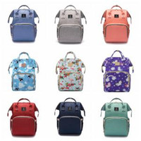 Wholesale large print box online - Flamingo USB Diaper Backpacks Cartoon Printed Waterproof Large Capacity Mother Mommy Backpack USB Interface Nappy Outdoor Bag OOA6161