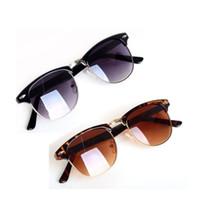 nuevas decoraciones de uñas al por mayor-Nail nuevo gradiente de la lente Gafas de sol redondas hombres de las mujeres de la vendimia de la decoración retro gafas de sol UV400 Marca Diseño Sombras