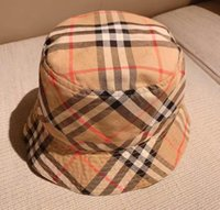 sombrero azul de las niñas al por mayor-Los niños del sombrero del cubo lados dobles casquillos Envidia del bebé azul de la visera parasol muchachas del muchacho niños de los sombreros finos del algodón Hecho