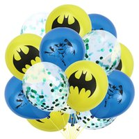 Wholesale party themes boys for sale - Group buy Balloons Latex Balloons Baby Boy Birthday Party Decorations Supplies Kids Classic Toys Bat Theme Balloons Party Decor