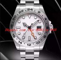 ingrosso migliore orologio sportivo automatico-Luxury Best V7 Versione NB Bianco Nero Serie 42mm Automatico Acciaio inossidabile Mens Watch 216570 Eta 3187 Movimento Auto Data Uomo Dive Sport