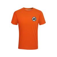 милый мяч дракона z оптовых-Dragon Ball Z Goku T-shirt O-neck short-sleeved cotton summer Harajuku brand clothing T-shirt cute street clothing XS-3XL