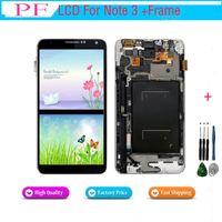not 3 toptan satış-Samsung galaxy note3 n900 n9000 n9005 n900a için lcd ekran lcd dokunmatik ekran digitizer meclisi yedek parlaklık düzeltilmiş + tamir aracı