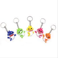 Wholesale doll toy car for sale - Group buy Baby Shark Hanging Keychain Silicone PVC Pinkfong Designer Key Chains Pendant Cartoon Plush Stuffed Dolls Toy Car Bag Decor Keyrings B7502