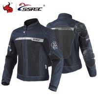 malla de montar chaquetas de moto al por mayor-Chaqueta sSpec de la motocicleta de los hombres de la chaqueta del dril de Moto del motocrós de malla Todoterreno Motorbiker Racing Riding chaquetas Protección Moto