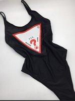 biquíni maiô venda por atacado-Luxo Sexy Uma peça Bikini For Women Swimsuit Com Letras Verão Marca Swimwear Senhora Backless fatos de banho 3 cores S-XL opcional