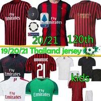 Wholesale ac milan soccer jerseys resale online - 20 AC Milan IBRAHIMOVIC ROMAGNOLI TH AC Milan PIATEK Jersey SUSO Football Shirt KESSIE PAQUETA Shirt Soccer Jersey Thai