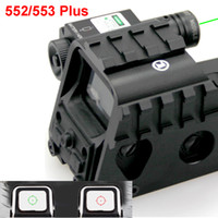 Wholesale red green laser sights resale online - New Tactical Red and Green Reflex Holographic Dot Sight With Green Laser Beam And mm Picatinny Side Rail System Plus