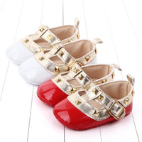 Wholesale baby first walking shoes leather for sale - Group buy Ins rivet baby girl shoes princess baby shoes infant shoe newborn shoes baby walker shoe first walking shoe infant footwear A8320