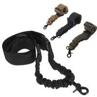 taktik naylon askı toptan satış-2 ADET Naylon Taktik tüfek gun sling Su Geçirmez ve Dayanıklı Açık Avcılık Için 1 tek nokta omuz askısı sling CS Cosplay Oyunları