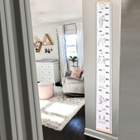 Wholesale measuring height wall stickers resale online - Kids Growth Baby Height Measure Ruler Wall Sticker Props Wooden Wall Hanging Decorative Child Chart for Bedroom Home Decoration