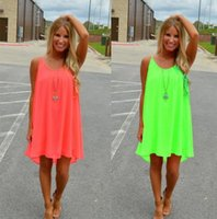 Wholesale womens plus clothing for sale - Sexy Summer Dresses for Women Casual Sleeveless Evening Party Beach Dress Short Chiffon Mini Dress BOHO Womens Plus Size Clothing