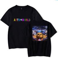 mochilas de basquete de moda feminina venda por atacado-Astroworld T-SHIRT Travis Scott T Shirt Tee T-shirt de Manga Curta Hip Hop Astroworld Designer Preto Tee Camiseta Tamanho S-3XL