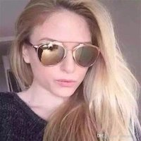 Wholesale multicolor girl sunglasses for sale - Group buy Mirror Gold Frame Sunglasses Women Fashion New Arrival Brand Designer Sunglass Sun Shading Classical Lady Cool Multicolor Eyeglass jy