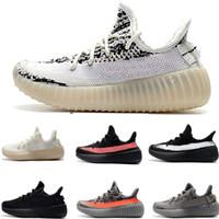 genç ayakkabılar toptan satış-ADIDAS YEEZY BOOST 350 V2 Kanye Statik Zebra Bebek Çocuk koşu ayakkabıları Krem Beyaz BELUGA Çocuk Spor ayakkabı toddler eğitmenler erkek kız Çocuk Bred Junior sneakers