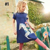 Wholesale leopard print dresses for kids resale online - Kids Clothin Dress INS Baby girl for T to T Spring Girl Flower Flower Design high quality baby Short Sleevel Princess dress