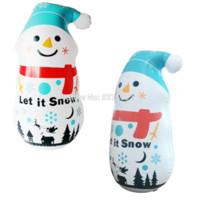 ingrosso saltare decorazioni-Regali di Natale gelido il pupazzo di neve decorazione gonfiabile per la casa cantiere esplodere sacco da boxe Tumbler per bambini giocattoli