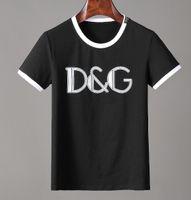frauen pullover shirts großhandel-Europa Paris neue D + G Designer Mode Sommer Straße T-Shirts 5A + Hohe Qualität kurze Ärmel tshits für Herren Damen Pullover T-Shirt Kleidung 503