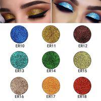 Wholesale rainbow makeup palette resale online - 18 Colors Single Glitter Sexy Eyes Shadow Beauty Eye Makeup Diamond Rainbow Shinning Glitter Hot Eyeshadow Powder Make Up Palette Free Ship