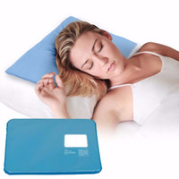 Wholesale cooling pillow pad resale online - Ice Cold Pillow Cool Gel Non toxic Pad Muscle Relief Sleeping Mat Travel Pillows Neck home hotel pillow case FFA2313