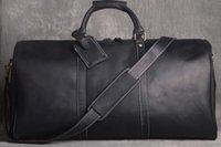 велюровая обивка оптовых-Письмо горячая распродажа путешествия высокого качества известный бренд Keepall сумка N41418 дорожная сумка из натуральной кожи коричневый моно мужская сумка для багажа