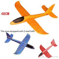 uçan kayıklar oyuncakları toptan satış-DIY Çocuk Oyuncakları El Uçan Planör Uçaklar Köpük Model Uçak Parti Çanta Dolgu Uçan Planör Düzlem Oyuncak İçin Çocuk Oyun atın