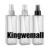 bouteilles de pompe carrées en plastique achat en gros de-Capacité 250ml 300pcs livraison gratuite / lot en plastique Flacon pompe avec du matériel animal, bouteille embrun PET, récipient carré