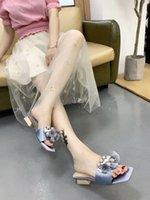 кожаные сандалии оптовых-новый стиль женские сандалии летние удобные тапочки женская мода уличная обувь кожаные жемчужные кисточки плоские тапочки