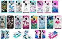 coruja da nota de tampa venda por atacado-Bling diamante híbrido coruja mandala tpu soft case para samsung galaxy note 10 pro lg k12 plus dream catcher torre animal urso pele tampa 50 pcs