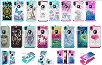 búho nota de portada al por mayor-Bling Diamond Hybrid Owl Mandala TPU Estuche blando para Samsung Galaxy NOTE 10 Pro LG K12 PLUS Dream catcher Tower Animal Bear Skin Cover 50pcs