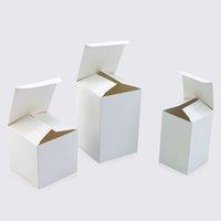 caja cuadrada fiesta blanca al por mayor-Caja de regalo de papel blanco Tamaño 20 Cartón pequeño Cajas de embalaje cuadradas Caja de empaque para la fiesta