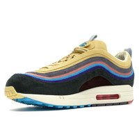 Wholesale shoe up for sale - 97 Sean Wotherspoon Designer Shoes With Box s SW Vivid Sulfur Multi Yellow Blue Hybrid Running Shoes Men Women Sport Sneakers