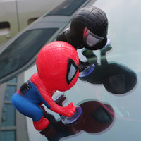 Wholesale car window sucker doll for sale - Climbing C Window Sucker Toy Marvel Legends Figure Spider Man Doll Car Home Interior Decoration PPA46