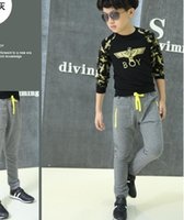 parche pantalones chicos al por mayor-GO Boys Girls Pantalones de chándal Otoño Primavera Patch Leggings Niños Algodón Pantalones largos 2019 Nueva moda Pantalones para niños 2 4 6 8 10 años