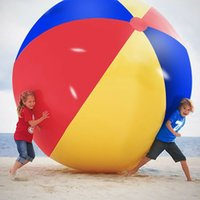 Wholesale sports inflatables resale online - 200cm inch Inflatable Beach Pool Toys Water Ball Summer Sport Play Toy Balloon Outdoors Play In The Water Beach Ball MMA1892