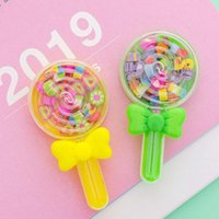 Wholesale lollipop erasers resale online - 1 Kawaii Small Fruit Lollipop Shape Eraser Rubber Eraser Primary School Student Student Kids Gift Stationery Tools