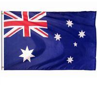 ingrosso bandiera nazionale australia-Australia Bandiera 3x5ft Bandiera Nazionale Australiana Poliestere Banner Appeso Bandiera Indoor Outdoor Home Decor Festival Rifornimenti di Partito Grandi Bandiere