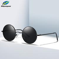 Wholesale sunglasses polarizadas for sale - Group buy designer sunglasses Men high quality Women Black glasses Round Spring Leg Polarized Sunglasses gafas polarizadas de hombre