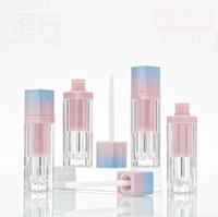 pared de los labios al por mayor-100 piezas de 5 ml de tubo de brillo de labios cuadrado vacío, botella de brillo de labios de tubo de pared gruesa botella de brillo de labios