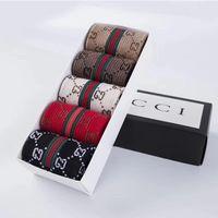 ingrosso scatole regalo cool-1 set = 5 doppi calze uomo Gift Box sezione primavera net red cool cool marea calze di marca stampate calzino casual calze di natale calza alta 154