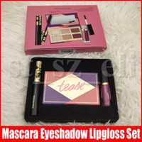 Wholesale paintings christmas for sale - Group buy 3 in Makeup Set Lash Paint Mascara Pro to Go Eyeshadow Palette Glossy Lip Paint Gloss Treats Cosmetic Make Up Set