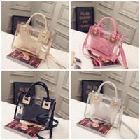 nouveaux sacs harajuku achat en gros de-Ransparent Jelly Bag mulit couleur Tote Portable Harajuku Beach Sacs À Main mode femmes Big Storage Sacs Nouvelle Arrivée 28jh E1