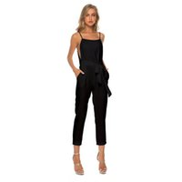 chicas sexy tirantes al por mayor-2019 Womans Designer Lovely Siamese Pantalones Girls Summer Fashion Suspender Pant Casual Sexy Off Shoulder Diablement Fort Clothing