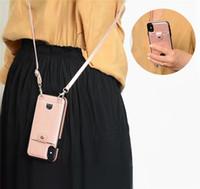 ingrosso galassia della cordicella-Custodia in pelle PU di lusso per Samsung Galaxy Note10 pro Note9 Custodia a portafoglio per Samsung S10 S9 plus Custodia per telefono con tasca per cordino