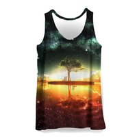 Wholesale bodybuilding paintings resale online - 3D Tank Tops Men Colorful Painting Print Sleeveless Vest Summer Bodybuilding Cool Fashion Casual Tops Streetwear